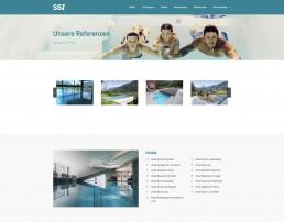 Übersicht Referenzen SST Saurwein Schwimmbad Technik Website