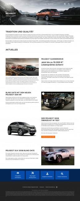 Website Typo3 - Auto Bebion - Webdesign