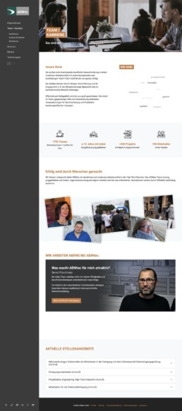 AEMtec GmbH - Typo3 Webseite - Website Agentur Andreas Huber
