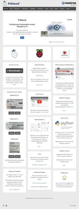 PiXtend Wordpress Webseite - Webdesign Agentur