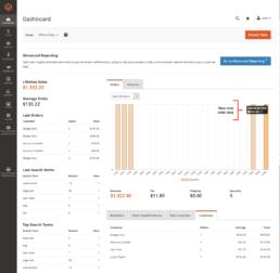 Magento Shop - Webshop Dashboard