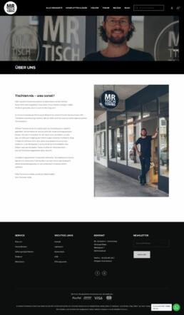 Mr. Tischtennis Online Shop Christoph Maier Webshop E-Commerce