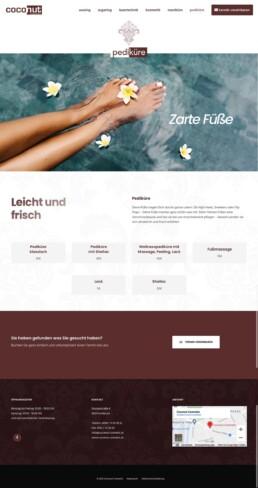 Coconut Cosmetik - Kosmetiker Homepage - Website